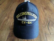 Uss Constellation Cv-64 Navy Ship Hat U.S Military Official Ball Cap U.S.A Made