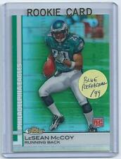 LeSean McCoy 2009 09 Topps Finest BLUE  REFRACTOR Rookie Card #95  only 429 made