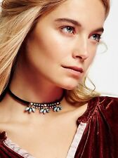 CRYSTAL BLOSSOM LEATHER CHOKER (Currently on sale for £89.95 on Freepeople.com)