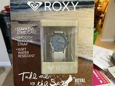 Roxy Women's Rx/1008blsv The Royal Silver-tone And White Silicone Strap Watch