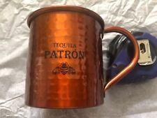 Patron Tequila Copper Mule Mug Set Of 2 Metal Copper Color Orange Brand New!