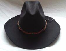 NWOT Resistol Western 4XXX Size 7 Beaver Cowboy Hat w  Leather Band 400e746a0205