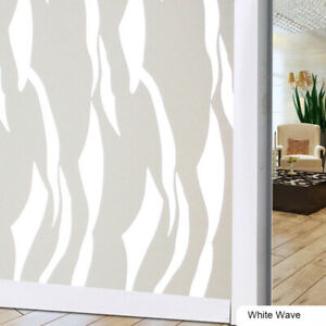 No Need Glue Static Cling Glass Window Film Privacy Frosted Opaque Decor Home