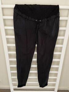 H&M Black maternity pants 10