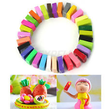 Lot of 32 Pcs Soft Effect Polymer Clay Plasticine DIY Modelling Craft Art Toys