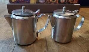 2 Vintage Vollrath Milk Creamers Stainless Steel