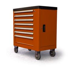 Carrello portautensili da officina LINCOS con 7 cassetti - 252 pezzi all'interno
