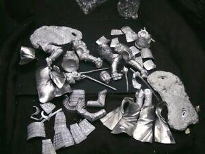 2 x 90mm white metal samurai kits
