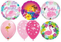 Flamingo Qualatex Latex Balloon Packs Air Helium Party Female Girls Decoration