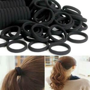 40 Pcs Black hair bands elastics bobbles women kids girls school ponies ties