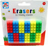 Kinder schaffen - Neuheit Lego Ziegel Gummi Form Radiergummi, 18er Pack