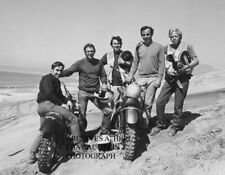 Steve McQueen motorcycle testing 1970 actor photograph photo