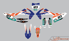 WR CUSTOM GRAPHICS 2016 2017 2018 KTM Graphics kit SX SXF 125 150 250 350 450
