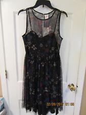 New Disney Lauren Conrad Snow White black floral lace Dress, size 8 retail $68