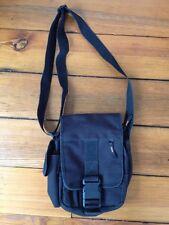 GH Bass Small Black Nylon Rugged Travel Purse Cross Body Shoulder Camera Bag