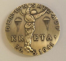 WW2 WWIl German Paratrooper coin medallion Kreta Crete