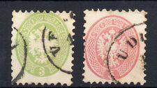 FRANCOBOLLI ANTICHI STATI 1864 LOMBARDO VENETO 3+5 SOLDI USATI Z/2596