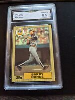 1987 Topps Barry Bonds Rookie GMA 8.5 GEM MINT AUTHENTICATION Comp To PSA