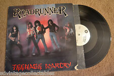 ROADRUNNER Teenage Warcry Private Metal Glam w/ insert RECORD LP VG