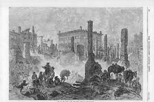 1870 TURKEY LEVANT Great Fire in CONSTANTINOPLE Ruins Fire Fighter (005)