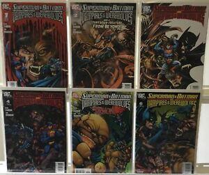 Superman & Batman Vs Vampires & Werewolves Complete Set #1-6 VF/NM DC Comic Run