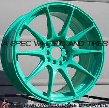 XXR 527 17X9.75 Rims 4x100/114.3 +25 Wasabi Wheels Aggressive Fits 4 Lug S13 S14