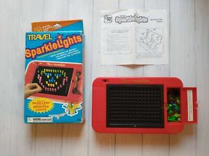 Ohio Art Sparkle Lights Up Pegs Car Travel Peg Toy Battery Operated New Bulb