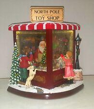 Roman Amusements Large North Pole Toy Shop Christmas Musical Led / Motion