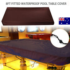 8ft Fitted Pool Snooker Billiard Table Dust Cover Waterproof + Drawing String