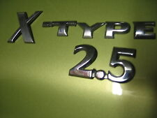 JAGUAR CHROME X-TYPE 2.5 EMBLEMS