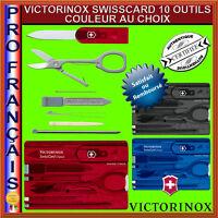 COUTEAU SUISSE VICTORINOX SWISSCARD SWISS CARD 10 OUTILS COULEUR AU CHOIX