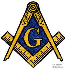 MASONIC BIKER PATCH EMBROIDERED IRON-ON LOGO Mason Freemason SQUARE COMPASS new