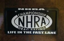 custom NHRA license plate and frame combo pro stock pro street ihra idba