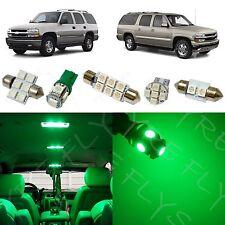 15x Green LED light interior package kit for 2000-2006 Chevy Suburban/Tahoe CS1G