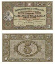 More details for switzerland 5 franken banknote (1947) p.11m - ef.
