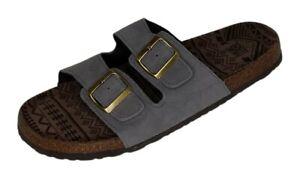 Muk Luks Sz 11 Men's Parker Duo Strapped Sandals Grey A333099