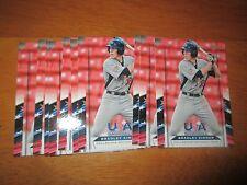 Lot (10) BRADLEY ZIMMER Card #24 Indians 2013 Panini USA Baseball Box Set
