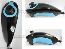 NEW HIGH QUALITY STYLISH BLACK/BLUE NUNCHUCK NUNCHUK CONTROLLER FOR NINTENDO Wii