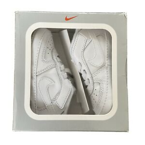 Nike Air Force 1 Size 3.5 White Unisex Leather Crib Shoes Trainers