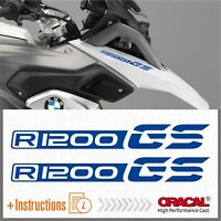 2x R1200 GS Blue BMW ADESIVI PEGATINA R1200GS AUTOCOLLANT R 1200 AUFKLEBER