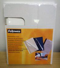 FELLOWES A4 presentazione relazione copre 9 – 12 mm – Bianco (pacco da 20)