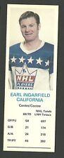 Earl Ingarfield California Golden Seals 1970-71 Dad's Cookies Hockey Card VG