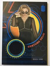 2016 TOPPS DOCTOR WHO RIVER SONG COSTUME RELIC BLUE 52/99 VERY HTF