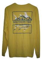 Southern Tide Men's Long Sleeve Pocket DO NOT EAT THE SKIPJACK T Shirt L NEW $44