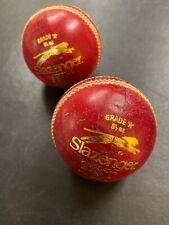 2 VINTAGE SLAZENGER Grade A CRICKET BALLS MADE IN ENGLAND Test Red