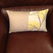 Laura Ashley Millwood Camomile and Bacall Natural  Bolster Cover  Linen Blend.