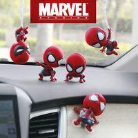 New Cute Spiderman Bobble Head Figure Car Accessories Spider-Man Home Coming
