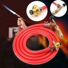 for Mapp Gas Ignition Plumbing Turbo Torch W/Hose Solder Propane Welding