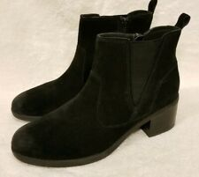 NEW CLARKS Nevella Bell Suede Ankle Boots Black Size 7 M