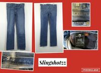 """*7 for all Mankind* Jrs """"Actual 32x32½"""" Low Stretch Straight Jeans (tag 30)"""